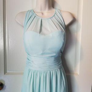 Mint green maxi formal/prom dress Sz 10